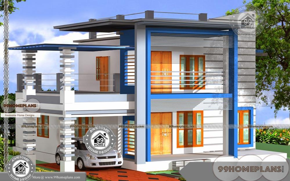 two story house with balcony with low economical modern plans online - 40+ Low Cost Small Two Storey House Plans With Balcony Background