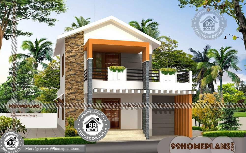 Typical american house plan with double floor modern for Typical american house plan