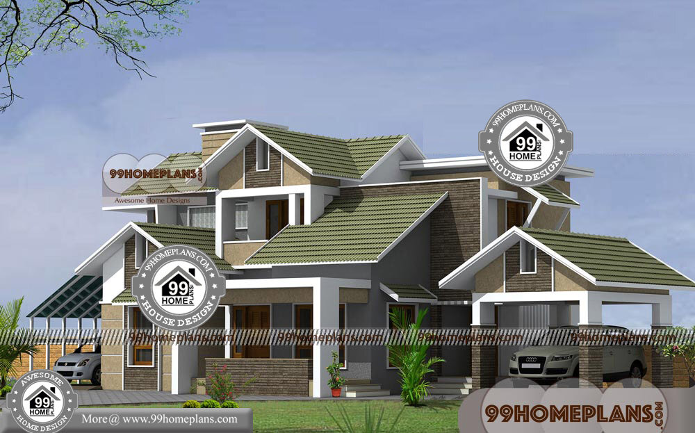 Unique contemporary house plans with two story modern home for Unique 2 story house plans