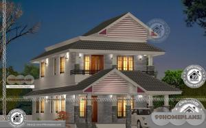 West Facing House Plans Design with Two Floor Architectural Structures