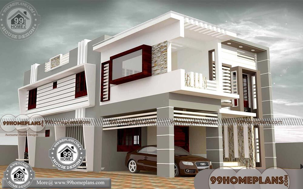 2 Storey House With Floor Plan | Best Flat Roof Contemporary Home Idea
