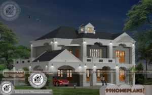 3d Double Story House Plans & Traditional Modern Home Designs Photos