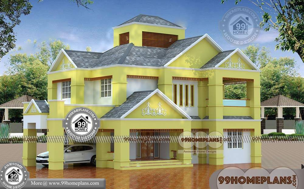 3d elevation of bungalow plan collections two floor home designs - Two floor house plans collection ...