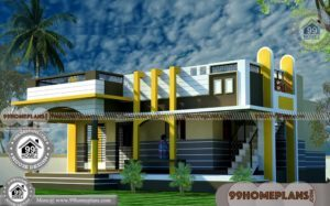 40 X 55 House Plans with Single Story Amazing 3d Elevations & Exteriors