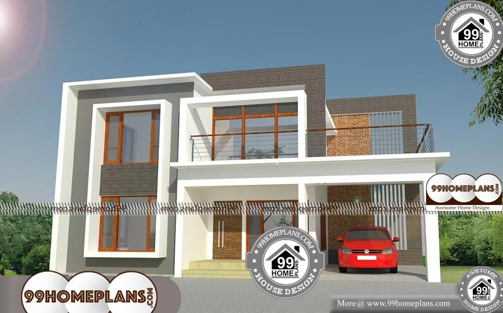 Brick Homes Plans - 2 Story 2100 sqft-Home