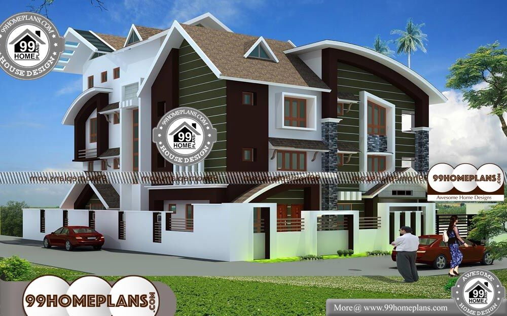 Contemporary Style Home Plans In Kerala - 4 Story 9364 sqft-Home