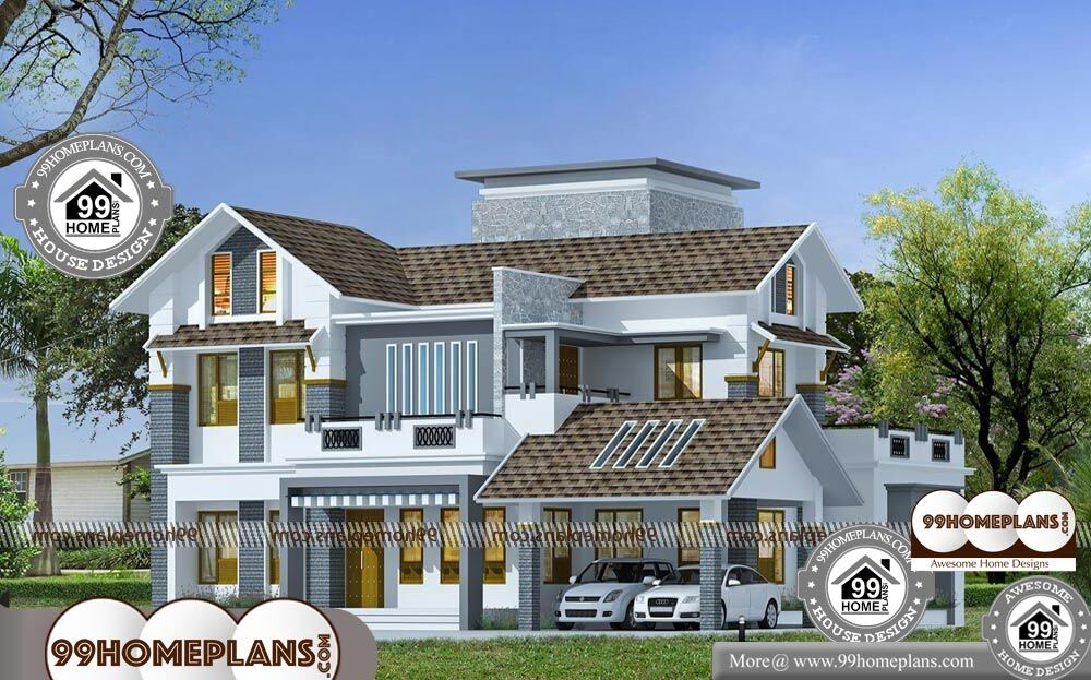 Double Story House Designs Indian Style Modern Traditional Home Plan