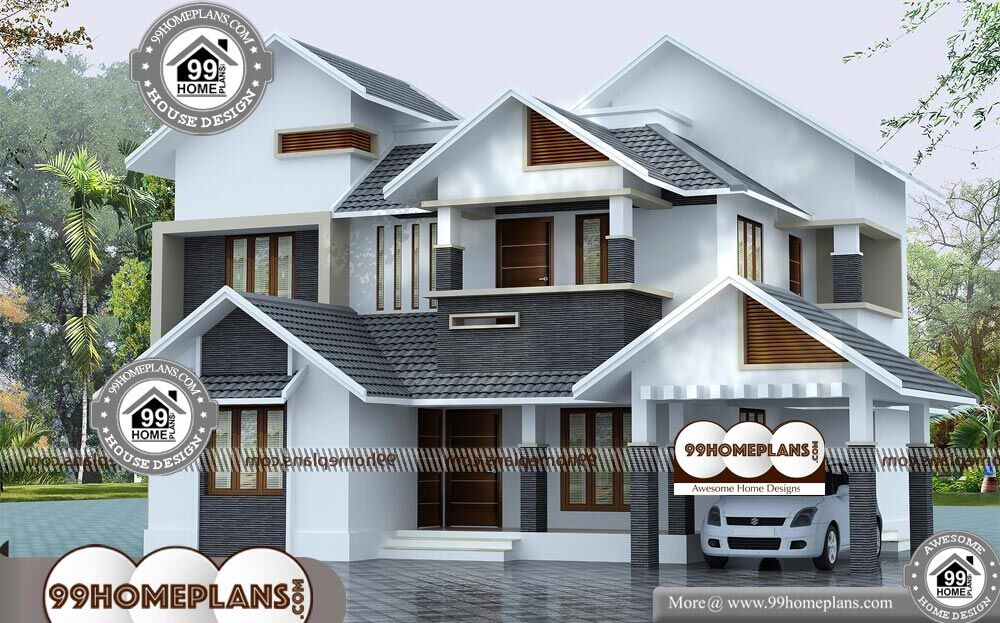 Charming Front Design Of House In Indian Double Story Part - 13: Front Design Of House In Indian Double Story - 2 Story 2145 Sqft-Home