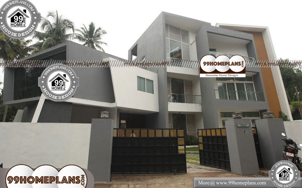 Kerala Style House Plans with Photos - 3 Story 8005 sqft-Home