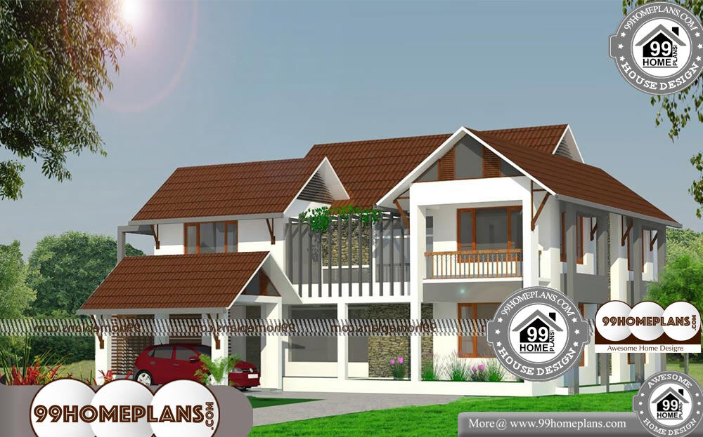 Low Cost Bungalow Designs with Double Story Modern Home ...