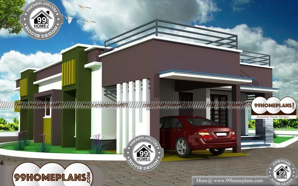 Narrow Lot One Story House Plans with Urban Style Home ...