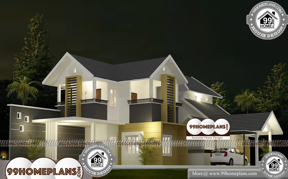 New House Designs Kerala Style - 2 Story 3570 sqft-Home
