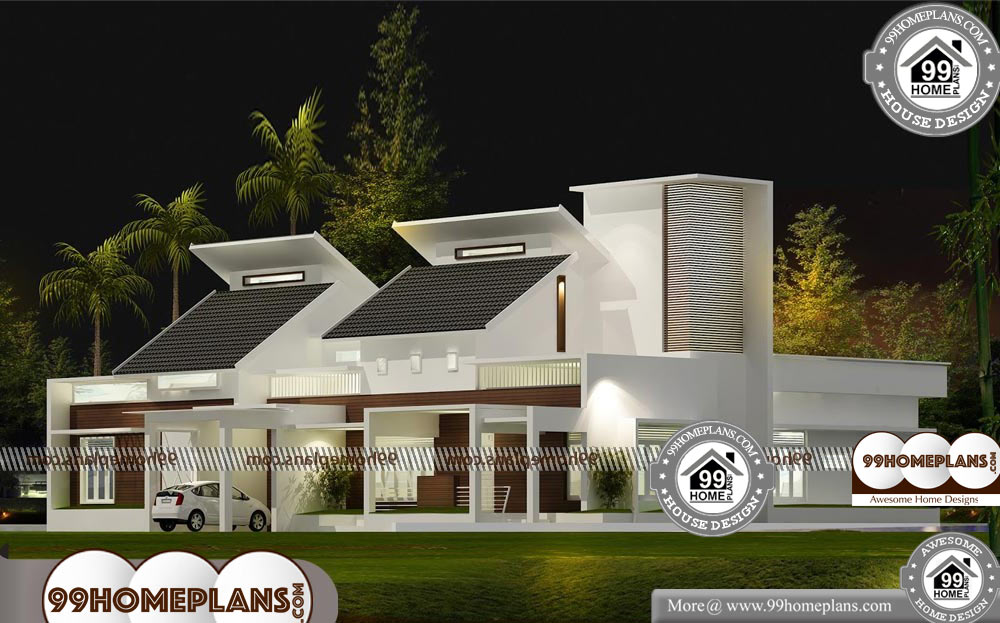 One Story Country House Plans - Single Story 3000 sqft-Home