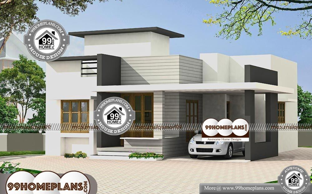 Single Story Country House Plans - Single Story 1219 sqft-Home