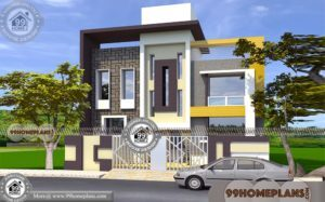 Apartment Design Ideas with Two Story | 4 BHK House Plan Collections