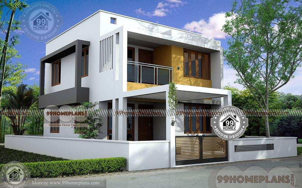 Box design house two story home plan elevation new for Modern kerala style house plans with photos