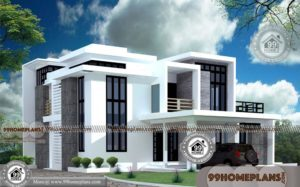 Box Shaped House Designs | Double Floored Structural Home Collections