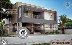 Box Type Bungalow House with Double Floor Modern Home Collections