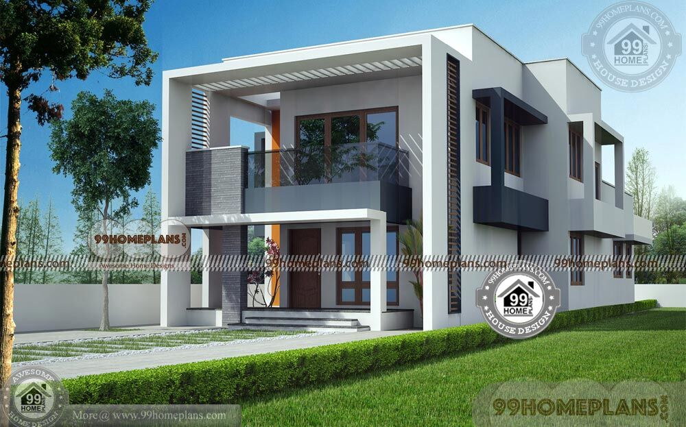 Box type house interior design with double story for Home plans com