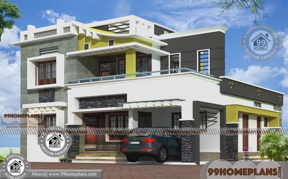 Box Type House With Rooftop Double Floor Modern Design ...