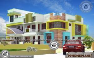 Contemporary Home Design Ideas with Double Storied Big House Plans