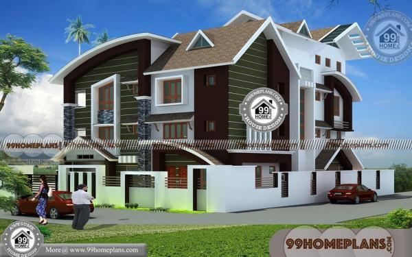 Contemporary Style Home Plans In Kerala Two Floor Modern Exterior Plan