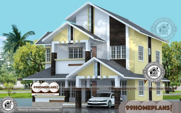 Double Storey Bungalow Design Traditional Kerala Style