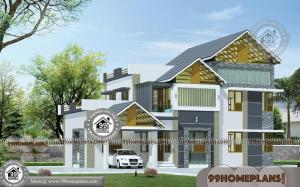 Double Story Bed Design with 3D Elevations | Best Traditional Home Plans