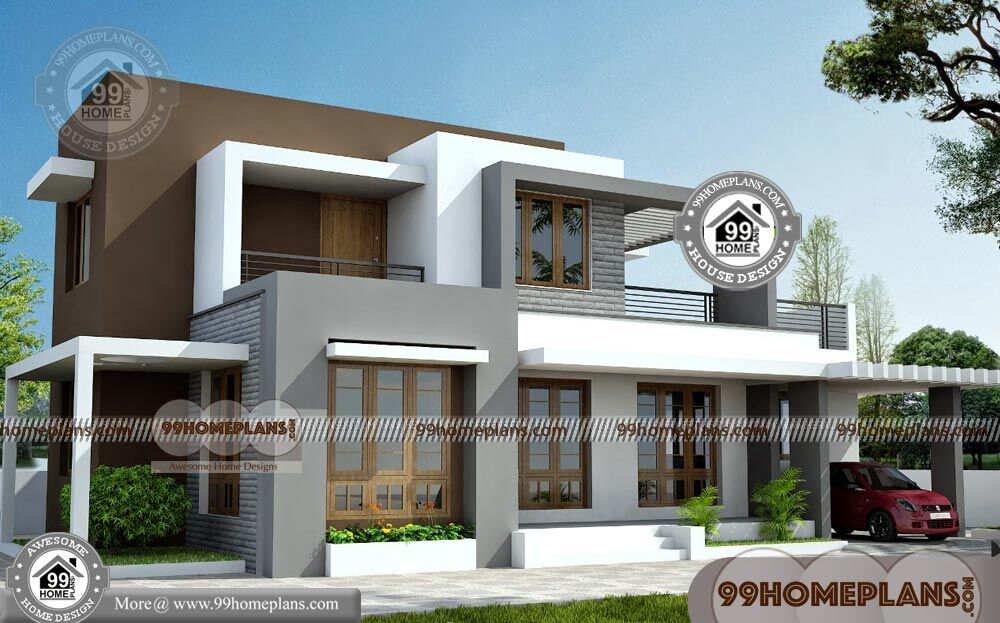 House box type plans modern 2000 home designs by architects for Modern house design box type