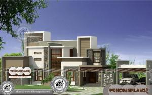 Kerala Home Design with Plan 70+ Simple 2 Storey House Design Ideas