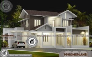Model Houses in Kerala Style 30+ Double Storey House Designs & Ideas
