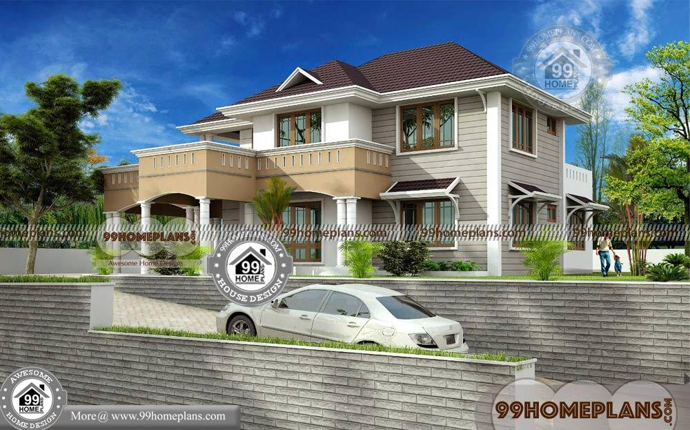 Double Storey Bungalow Elevation : Modern bungalow floor plans double story style home