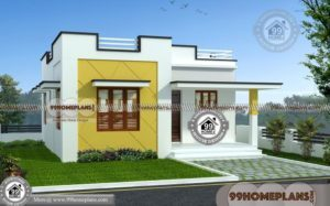 Narrow Lot House Plans One Story | Very Cute & Stylish Simple Homes