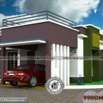 Narrow Lot One Story House Plans with Urban Style Home Design Ideas