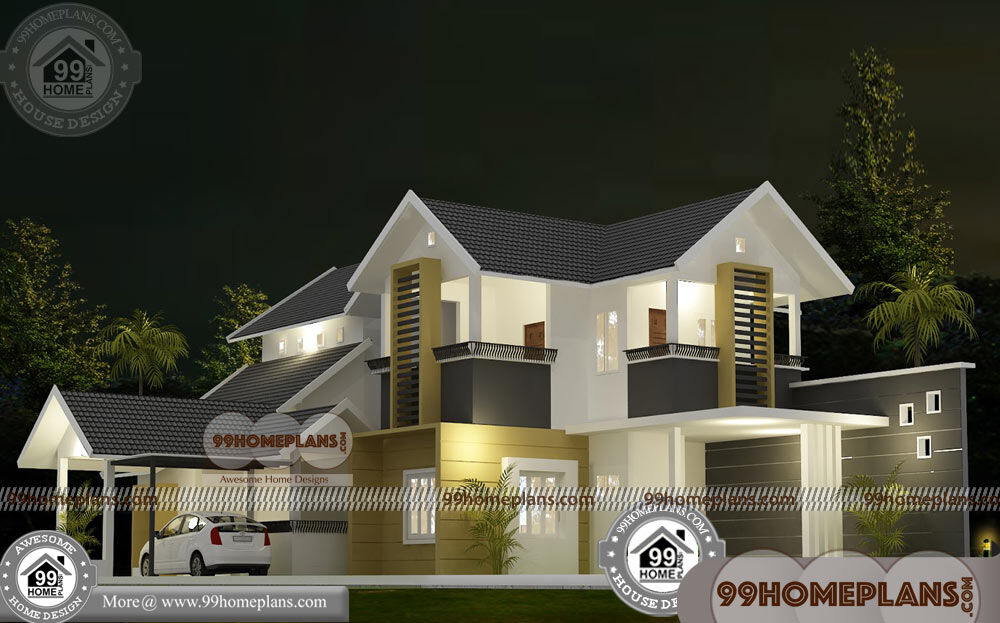 New House Designs Kerala Style 60+ Double Story Display Homes