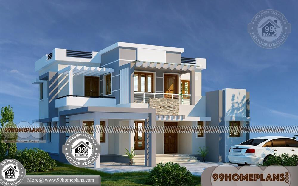 New Kerala House Plans with Photos 90+ Small 2 Storey Homes Plans