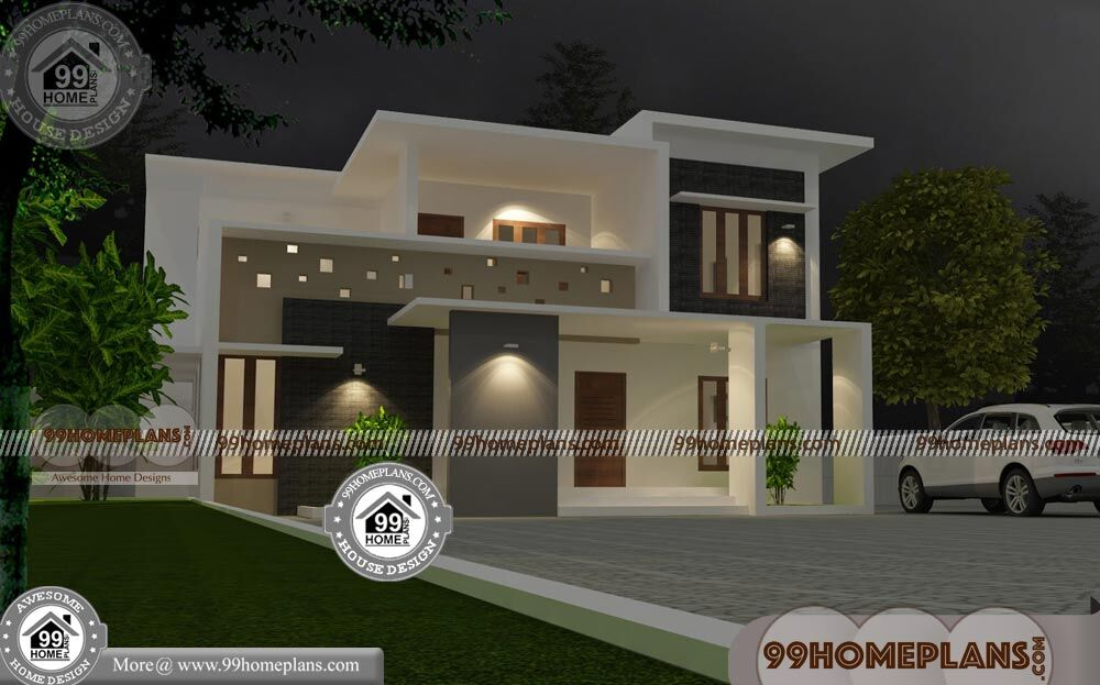 new-model-homes-in-kerala-style-45-double-storey-house-plans-ideas  Storey House Design Modern on 1 floor modern house design, 1 storey cottage design, 3 storey modern house design,