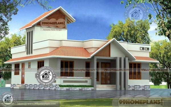 One story house plans for narrow lots simple low budget for Minimalist narrow house plans