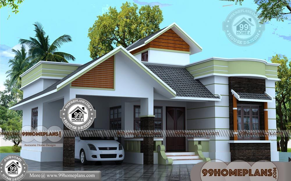 One Story Narrow Lot House Plans Kerala Traditional