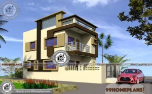 Simple Apartment Floor Plan with Two Floor | Best 80 Residential Designs