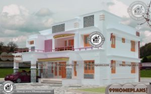Simple Box House Design Collections Online | 2 Floor New Modern Plans