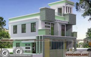 Simple Box House Plans with Double Story City Style Modern Home Ideas