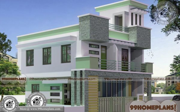 Simple Box House Plans With Double Story City Style Modern