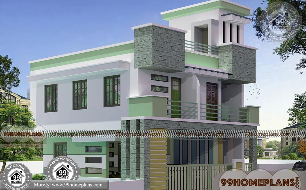 Simple Box House Plans with Double Story City Style Modern ...