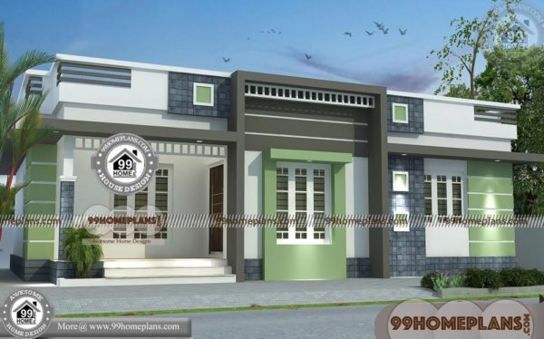 Single Floor House Plans In Kerala | Flat Pattern Contemporary Homes