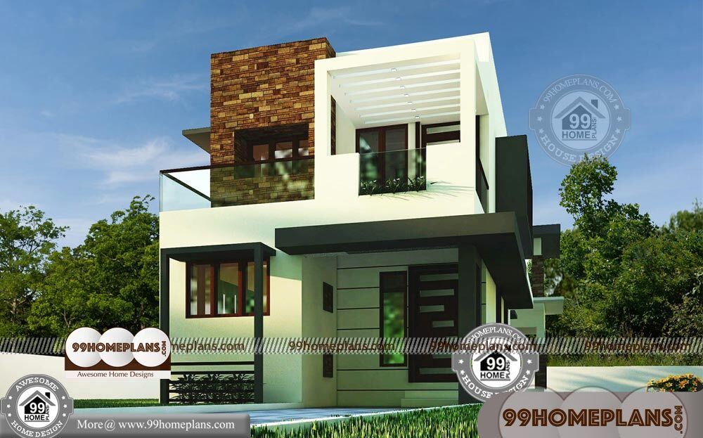 small box type house two floor modern city style home plan collections - Get Small Simple Box Type House Design  Gif