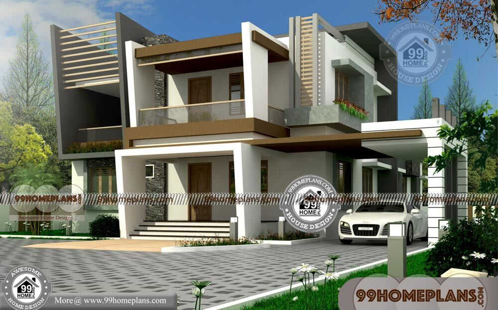 Small Double Storey Houses With 3d Elevations Very