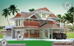 Traditional Home Plans In Kerala with Double Floor Elegant Look Designs
