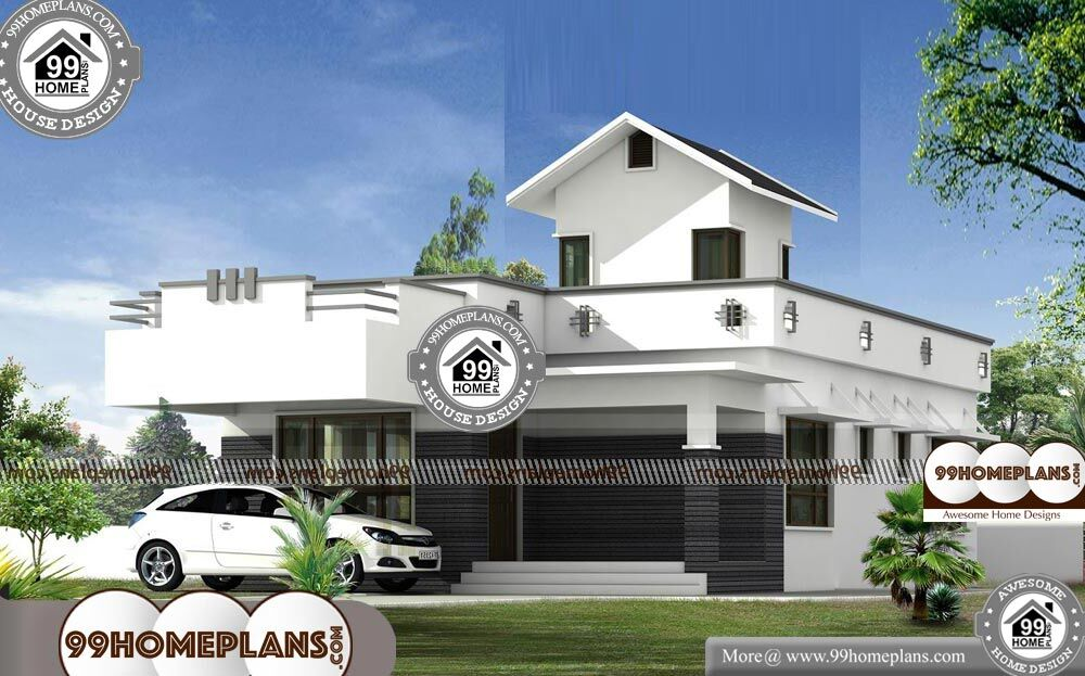 1 Story Contemporary House Plans - Single Story 950 sqft-Home