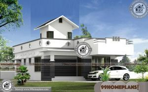 1 Story Contemporary House Plans With Low Cost Modern Home Designs